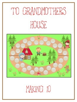Grandmother's House Math Folder Game - Common Core - Making Ten