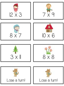 Grandmother's House Math Folder Game - Common Core - Multiplication