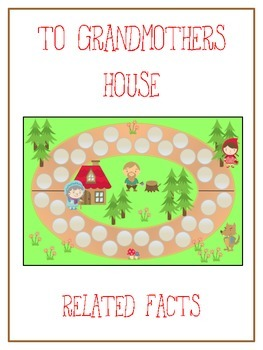 Grandmother's House Math Folder Game - Common Core - Relat