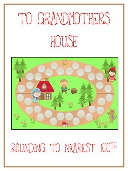 Grandmother's House Math Folder Game - Common Core - Round