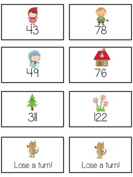 Grandmother's House Math Folder Game - Common Core - Rounding to Nearest 10th