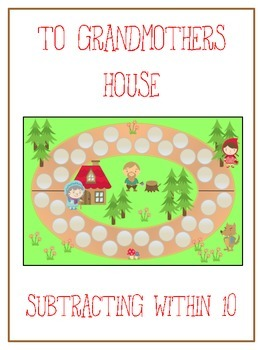 Grandmother's House Math Folder Game - Common Core - Subtracting within 10