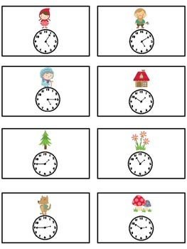 Grandmother's House Math Folder Game - Common Core - Telling Time 5 Minutes