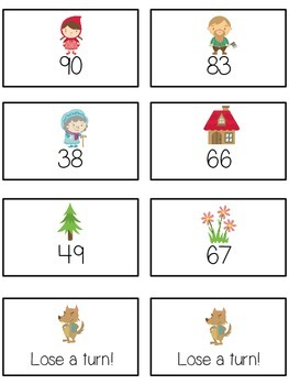 Grandmother's House Math Folder Game - Common Core - Ten More and Ten Less