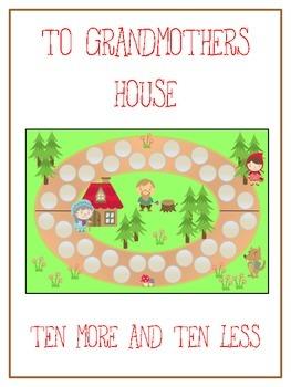 Grandmother's House Math Folder Game - Common Core - Ten M