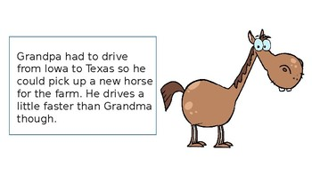 Grandpa Drives to Texas-Expressions and Equations