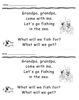 Grandpa Ocean Emergent Reader