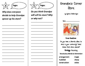 Grandpa's Corner Store Trifold - Imagine It 2nd Grade Unit 3 Week 5