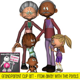 Grandparent Clip Art - Now includes blacklines! From Away With The Pixels