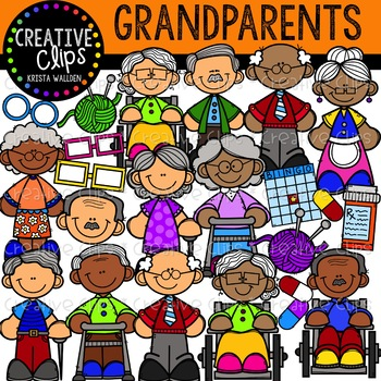 Grandparent Clipart {Creative Clips Clipart} by Krista Wallden - Creative Clips