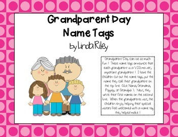 Grandparent Day Name Tags