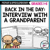 Grandparent's Day Interview and Writing Templates