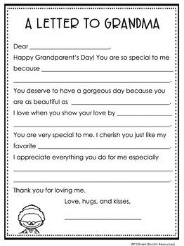 Grandparentu0027s Day Letter: Fill In The Blank
