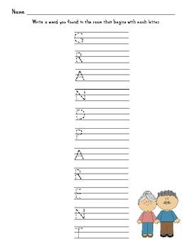 Grandparent Writing Set