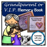 Grandparent or VIP Paper Bag Memories Book