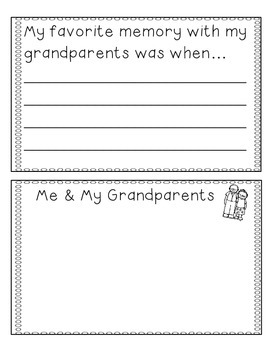 Grandparent's Day Activity Coupon Book