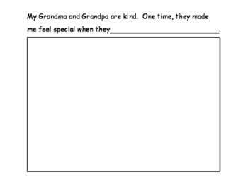 Grandparent's Day Booklet