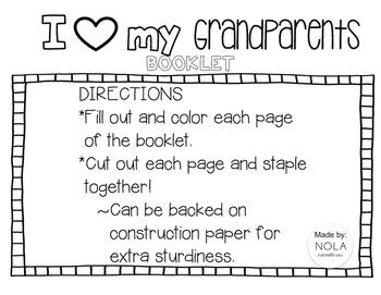 Grandparent's Day Booklet