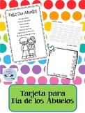 Grandparent's Day Card Spanish