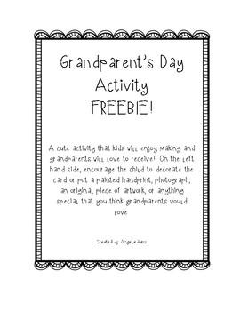 Grandparent's Day Craft/Card