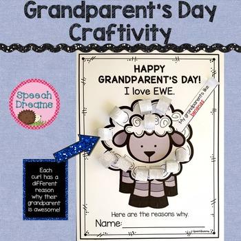 Grandparent's Day Craftivity {Grandparent Craft Class Activity}