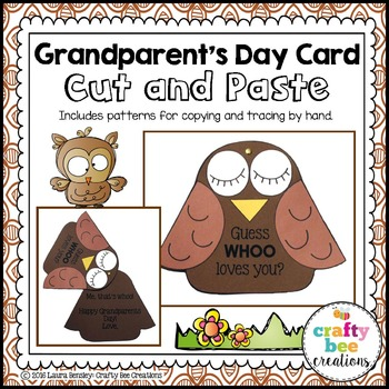 Grandparent's Day Cut and Paste Card