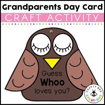 Grandparent's Day Card Craft