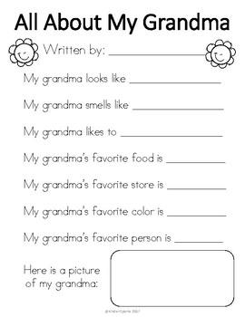 Grandparent's Day Gift- All About My Grandma & Grandpa