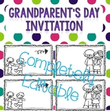Grandparent's Day Invitation *EDITABLE*
