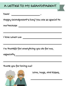 Grandparent's Day Letter