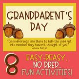 Grandparent's Day - No Prep Bundle