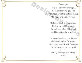 Grandparent's Day Poem and Craft