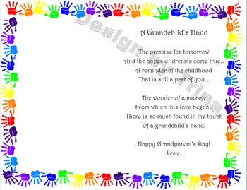 Grandparent's Day Poem and Craft