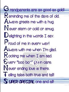 Grandparent's Day Poem for Performance/Recitation