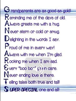 Grandparent's Day Poem for Performance/Recitation