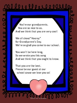 Grandparent's Day Song to the tune of Grand Old Flag