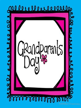 Grandparent's Day Song to the tune of I Want a Hippopotamus for Christmas