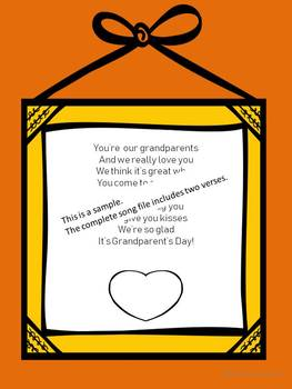 Grandparent's Day Song to the tune of You Are My Sunshine
