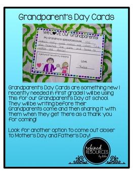 Grandparent's Day Writing
