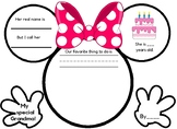 Grandparent's Day Writing Activity- Disney Themed