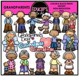 Grandparents Clip Art Bundle {Educlips Clipart}