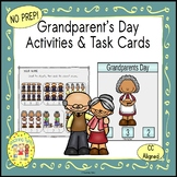 Grandparents Day Activities and  Task Cards
