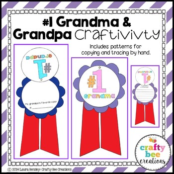 "Grandparent's Day ""#1 Grandma & Grandpa"" Craftivity"