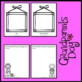 Grandparents Day Activities  (Grandma Scrapbook)