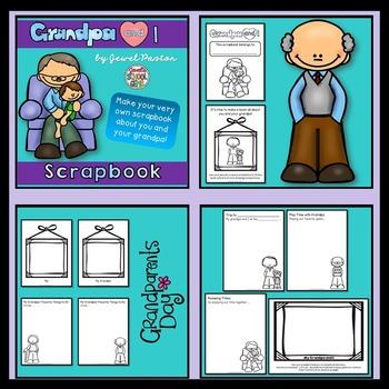 Grandparents Day Activities  BUNDLE (Grandpa and Grandma Scrapbooks)