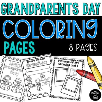 Grandparents Day Coloring Page Worksheets Teaching Resources Tpt