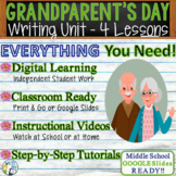 Grandparents' Day Writing BUNDLE! -Argumentative Persuasiv