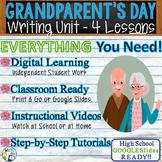 Grandparents' Day Writing BUNDLE! -Argumentative Persuasive Expository Narrative