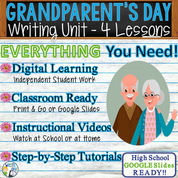 Grandparents' Day Writing BUNDLE! -Argumentative Persuasive Expository Narrative