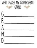 Grandparents Day Acrostic Poem